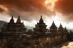 Ruínas de Borobudur Fotos de Stock Royalty Free