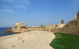 Ruínas de Caesarea Imagem de Stock Royalty Free