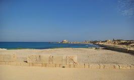 Ruínas de Caesarea Fotos de Stock
