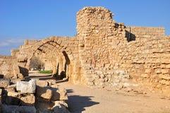 Ruínas de Caesarea. Imagens de Stock Royalty Free