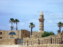 Ruínas de Caesarea imagens de stock royalty free