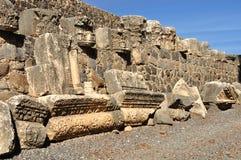 Ruínas de Capernaum. Fotos de Stock Royalty Free