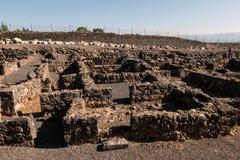 Ruínas de Capernaum fotografia de stock royalty free