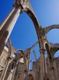 Ruínas de Carmo em Lisboa Fotos de Stock Royalty Free