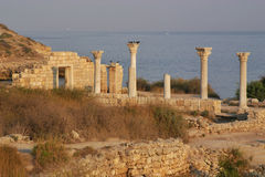 Ruínas de Chersonesos Fotografia de Stock