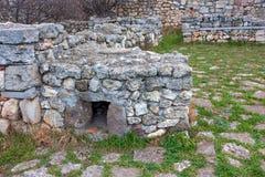 Ruínas de Chersonesus em Crimeia imagens de stock