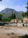 Ruínas de Corinth Imagem de Stock
