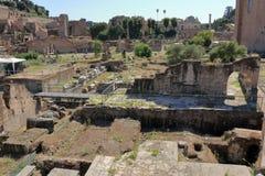 Ruínas de di Nerva de Foro em Roma, Itália Fotografia de Stock Royalty Free