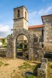 Ruínas de dos Condes de Paco e de igreja de Matriz em Barcelos, Portugal Fotografia de Stock Royalty Free