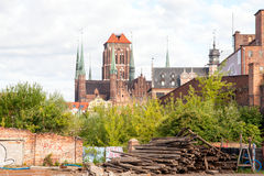 Ruínas de Gdansk Foto de Stock Royalty Free