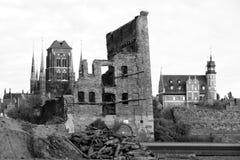 Ruínas de Gdansk Fotografia de Stock