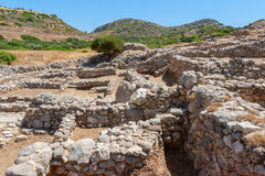 Ruínas de Gournia. Creta, Grécia fotografia de stock