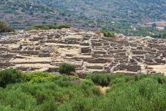 Ruínas de Gournia, Crete, Greece fotos de stock