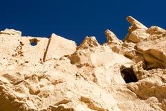 Ruínas de Guge acima da floresta dos solos Fotografia de Stock Royalty Free