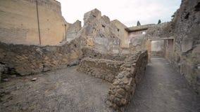 Ruínas de Herculaneum, Itália video estoque