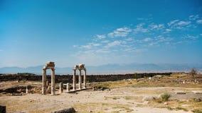 Ruínas de Hierapolis antigo foto de stock royalty free