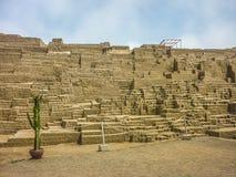 Ruínas de Huaca Pucllana imagens de stock