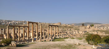 Ruínas de Jerash, Jordão Fotografia de Stock