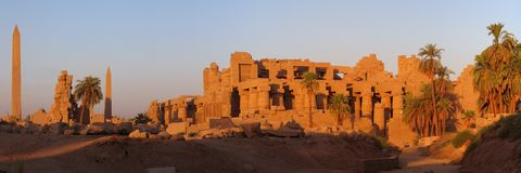 Ruínas de Karnak Fotografia de Stock Royalty Free
