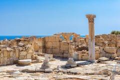 Ruínas de Kourion antigo, distrito de Limassol, Chipre Foto de Stock Royalty Free