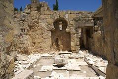 Ruínas de Medina Azahara em Córdova, a Andaluzia, Espanha, Europa fotografia de stock royalty free