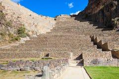 Ruínas de Ollantaytambo imagens de stock royalty free