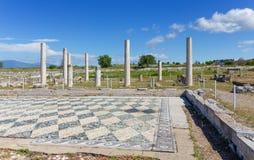 Ruínas de Pella antiga, Macedônia, Grécia Imagem de Stock
