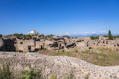 Ruínas de Pompeii, a cidade romana antiga foto de stock