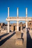 Ruínas de Pompeii, a cidade romana antiga imagens de stock