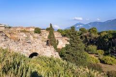 Ruínas de Pompeii, a cidade romana antiga fotos de stock