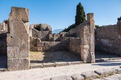 Ruínas de Pompeii, a cidade romana antiga foto de stock royalty free