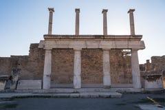 Ruínas de Pompeii, a cidade romana antiga imagens de stock royalty free
