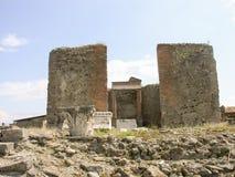 Ruínas de Pompeii, cidade romana enterrada perto de Nápoles Imagens de Stock