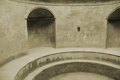 Ruínas de Pompeii no Sepia foto de stock royalty free