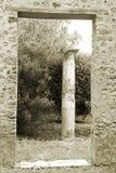 Ruínas de Pompeii no Sepia imagens de stock