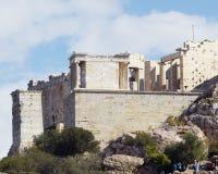 Ruínas de Propylaea do Acropolis Imagem de Stock