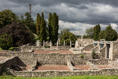Ruínas de Roman Aquincum, Budapest, Hungria imagens de stock royalty free