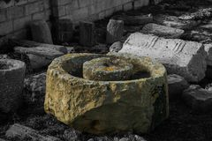 Ruínas de Roman Artifacts em Malta imagens de stock
