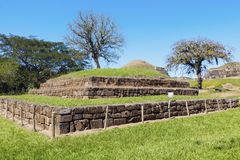 Ruínas de San Andres em El Salvador imagens de stock royalty free