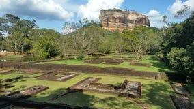Ruínas de Seegiriya do complexo de Palas Fotos de Stock