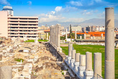 Ruínas de Smyrna antigo em Izmir moderno, Turquia Fotos de Stock Royalty Free