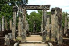 Ruínas de Sri Lanka - de Polonnaruwa fotografia de stock royalty free