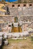 Ruínas de Tambomachay nos Andes peruanos no Peru de Cuzco fotos de stock