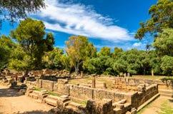 Ruínas de Tipasa, um colonia romano em Argélia, Norte de África imagens de stock royalty free