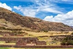 Ruínas de Tipon, Peru fotografia de stock royalty free