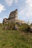 Ruínas de um castelo em Mirow poland Imagem de Stock Royalty Free