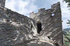 Ruínas de um castelo medieval em Itália, Imagem de Stock Royalty Free