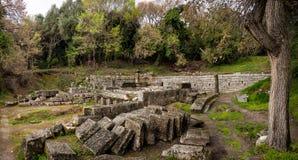 Ruínas de um templo do grego clássico Fotos de Stock Royalty Free