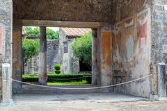 Ruínas de uma casa em Pompeii, Itália imagem de stock royalty free