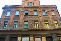 Ruínas de uma construção uma vez nobre na cidade velha de Sarajevo, de Bósnia e de Herzegovina Fotografia de Stock